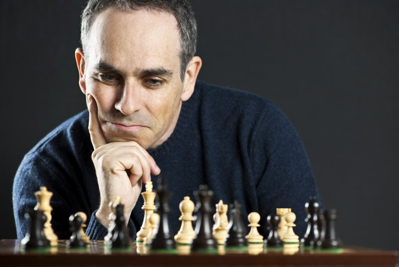 Schackspelande man